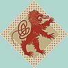 Vector clipart: Medieval heraldic lion
