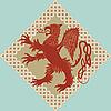 Векторный клипарт: средневековый геральдический грифон