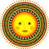 sun in Russian folk style