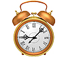 Bronze alarm clock | Stock Illustration
