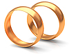 Two gold wedding rings | Stock Illustration