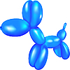 Vector clipart: Dog toy of balloons