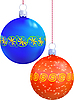 Vector clipart: Two New Year`s balls