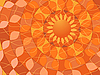 Vector clipart: Abstract orange background