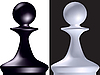 Vector clipart: chess figure pawn
