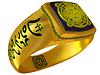 神奇幻想的金戒指 | 光栅插图