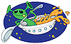 Vector clipart: alien in space