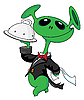 Vector clipart: alien with tray