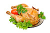 Grilled chicken with fresh vegetables  | Stock Foto