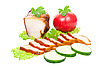 Smoked pork bacon  | Stock Foto