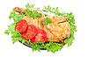 烤鸡肉和新鲜蔬菜 | 免版税照片