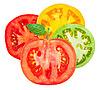 Tomato sliced   Stock Foto