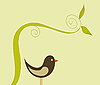 Vector clipart: cute bird