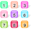 Vector clipart: set of glossy buttons with numbers