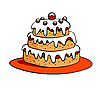 Vector clipart: cartoon cake