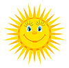Vector clipart: cartoon sun