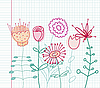 Vector clipart: childlike flowers