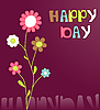 Vector clipart: Happy day