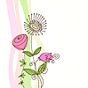 Vector clipart: floral card