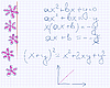 flowers in math exercise book