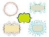 Vector clipart: doodle frames
