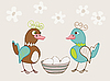Vector clipart: funny ducks and eggs