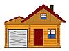 Векторный клипарт: деревянный дом