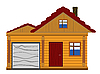 Vector clipart: wooden house