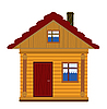 Wooden house | Stock Vector Graphics