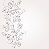 Vector clipart: floral ornament