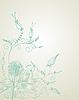 Векторный клипарт: растительный цветочный орнамент