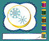 Vector clipart: threads and snowflakes
