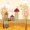 autumn city landscape
