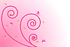 Vector clipart: pink floral design