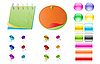 Vector clipart: office supplies