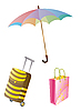 Vector clipart: umbrella and luggage