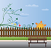Векторный клипарт: открытка с птицей