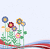 Vector clipart: flower card