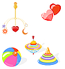 Vector clipart: set of toys
