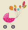 Vector clipart: baby carriage
