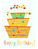 Vector clipart: cute birthday cake