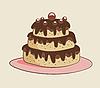 Векторный клипарт: торт