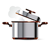 Vector clipart: stainless steel pan