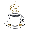 Vector clipart: cup of tea