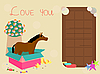 greeting card with horse