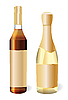 Vector clipart: champagne and cognac