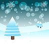 Vector clipart: winter background