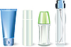 Vector clipart: bottles of cosmetic products