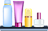 Vector clipart: bottles of cosmetics