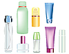 bottles of cosmetics